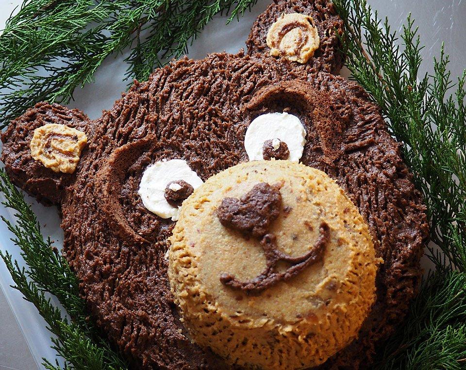 """tort """"ursuleț"""" de ciocolată"""