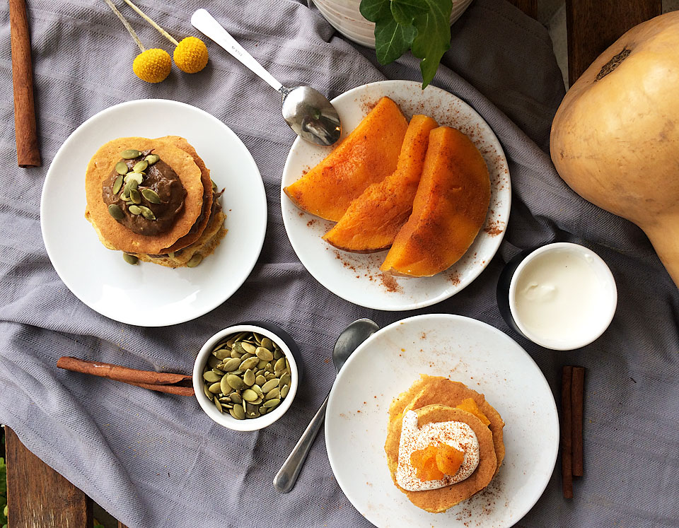 Pancakes cu dovleac și scorțișoară
